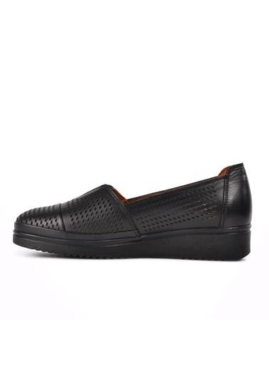 Ayakmod 301 Siyah Kadın Günlük Hakiki Deri Ayakkabı Siyah